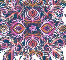 Vivid Celebration - a pattern in magenta, purple and orange Sticker