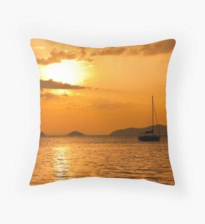 Andaman Sea Sunset Throw Pillow