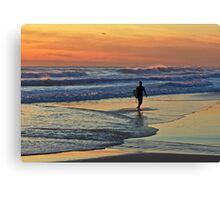 Would one day be eternity ...I would spend it out at sea ... Canvas Print