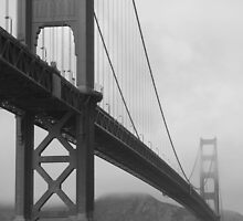 Golden Gate B&W by JoshuaVern