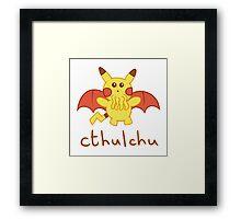 Cthulchu - Cthulhu Pikachu Framed Print