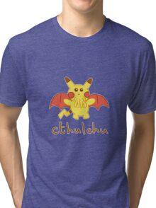 Cthulchu - Cthulhu Pikachu Tri-blend T-Shirt