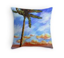 Caribbean Palm Throw Pillow