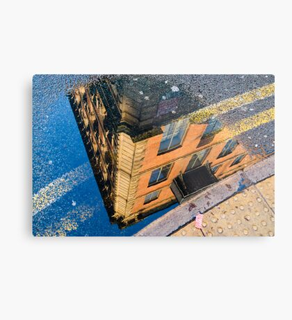 I See The World Through Puddles Metal Print