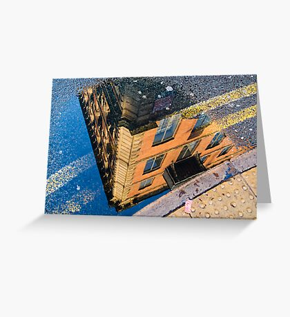 I See The World Through Puddles Greeting Card