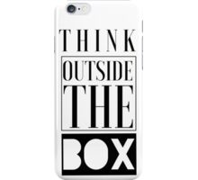 Think Outside The Box Pattern iPhone Case/Skin