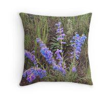 Mountain Meadow Penstemon Throw Pillow