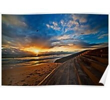 Sunset at Cottesloe 4 Poster