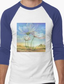 In the Half-shadow of Wild Flowers Men's Baseball ¾ T-Shirt
