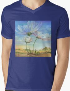 In the Half-shadow of Wild Flowers Mens V-Neck T-Shirt