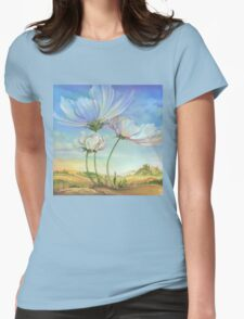 In the Half-shadow of Wild Flowers Womens Fitted T-Shirt