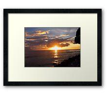 Sunset in Barbados Framed Print
