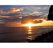 Sunset in Barbados Photographic Print
