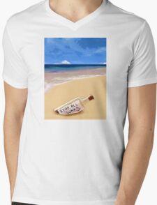 Message in the bottle Mens V-Neck T-Shirt
