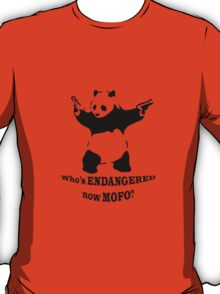 Who's endangered now MOFO?  (Small Print) T-Shirt