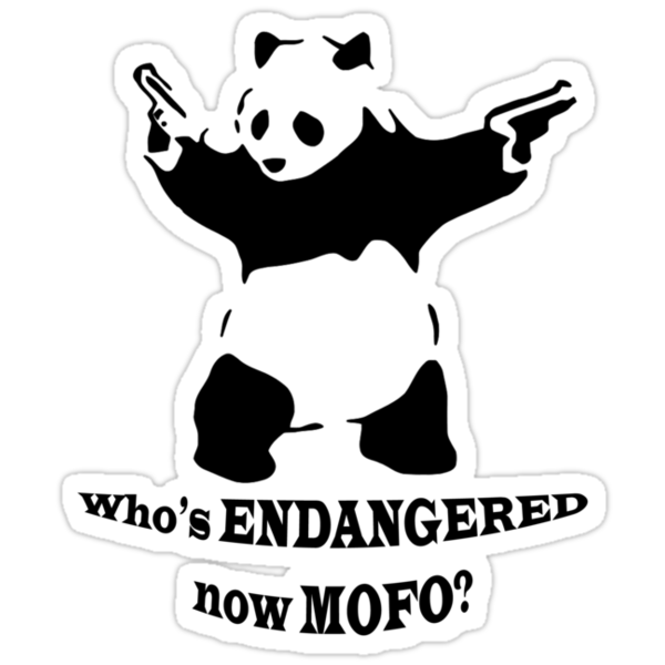 Who's endangered now MOFO?  (Small Print) by Jason Bran-Cinaed
