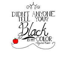 Black is my color (black font, American spelling) Photographic Print