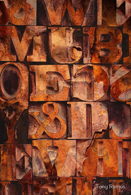 Block Letters Variation 1 by Tony Ramos