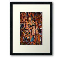 Block Letters Variation 2 Framed Print