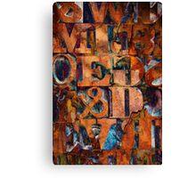 Block Letters Variation 2 Canvas Print