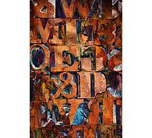 Block Letters Variation 2 Photographic Print