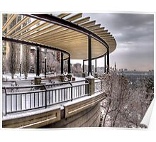 Lookout Point over Edmonton River Valley Poster