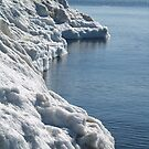 Lake Michigan Beach Turns to Ice by BarbL