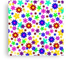 FLOWER POWER (transparent design) Canvas Print