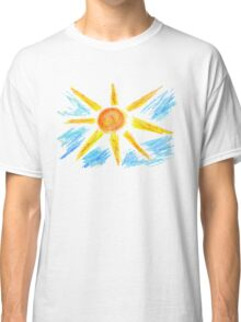 Hand Drawn Sun and Clouds Classic T-Shirt