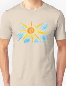 Hand Drawn Sun and Clouds T-Shirt