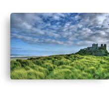 """Bamburgh Castle, Untamed Landscape"" Canvas Print"