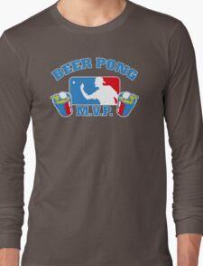 Beer Pong mvp Funny TShirt Epic T-shirt Humor Tees Cool Tee Long Sleeve T-Shirt