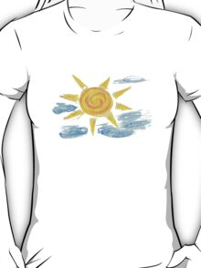Hand Drawn Sun and Clouds 2 T-Shirt