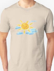 Hand Drawn Sun and Clouds 2 Unisex T-Shirt