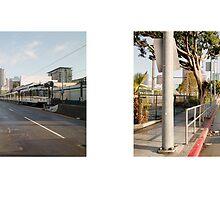 Flower Street + Pico Boulevard, Downtown, Los Angeles, California, USA...narrowed. by David Yoon
