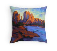 Cathdral Rocks Throw Pillow