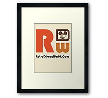 Retro Disney World Logo Framed Print