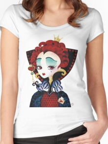 Queen of Hearts Women's Fitted Scoop T-Shirt
