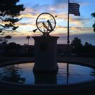 Sunset on the sundial by Walt Conklin