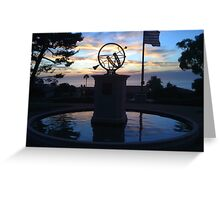 Sunset on the sundial Greeting Card