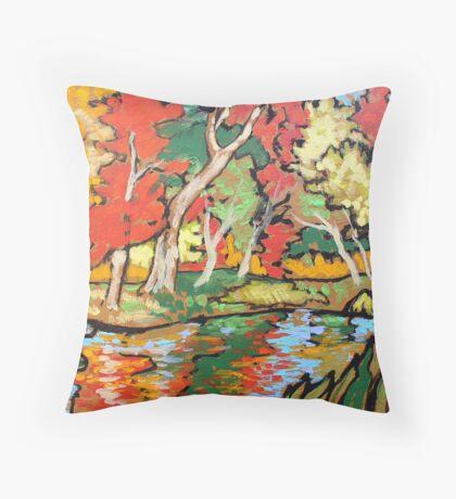 Dance of Autumn Trees Throw Pillow