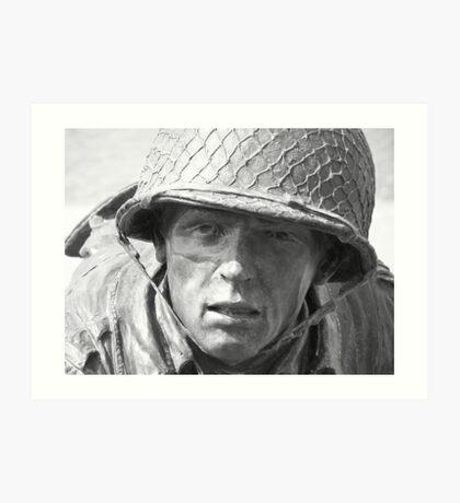 Statue at D-Day Memorial Art Print