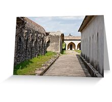 Horse Stables at Gingee Fort Greeting Card