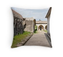 Horse Stables at Gingee Fort Throw Pillow