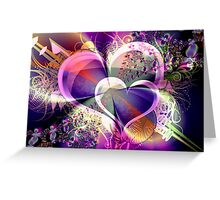 Two Hearts One Soul Greeting Card