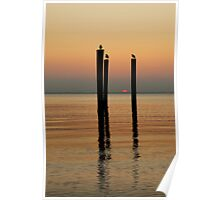 Sunset On The James River Poster