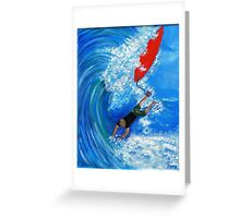 """Wipeout"" - a pre-pro surf happening Greeting Card"