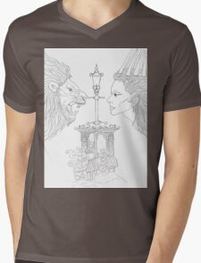 The Lion The Witch And The Wardrobe Mens V-Neck T-Shirt