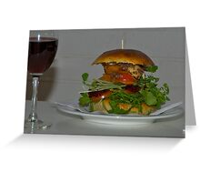 Gone Burgers Whistlestop Burger Greeting Card