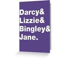 Darcy & Lizzie & Bingley & Jane. Greeting Card